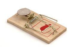 американский mousetrap монетки Стоковые Изображения