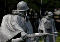Американский Rifleman, ветераны Корейской войны мемориальные Стоковые Изображения