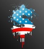 американский splatter элемента доллара иллюстрация штока