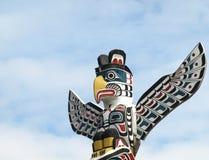 американский totem Северного полюса Стоковое фото RF