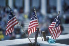 3 американских флага, кладбище Арлингтона национальное, Вашингтон, d C Стоковые Изображения