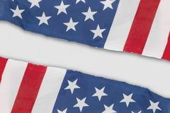 2 американских флага сделанного из бумаги Стоковое Изображение