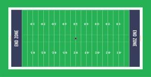 Американское взгляд сверху футбольного поля также вектор иллюстрации притяжки corel Стоковые Изображения