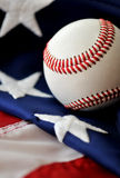 американское времяпровождение бейсбола Стоковые Фотографии RF