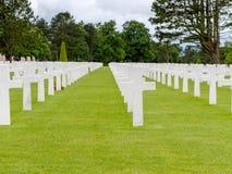 Американское кладбище войны на sur Mer Colleville, Нормандии Стоковые Изображения