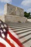 Американское кладбище войны - Somme - Франция Стоковая Фотография RF