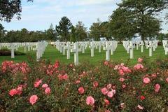 американское кладбище Нормандия Стоковое Изображение