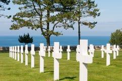 американское кладбище Стоковая Фотография