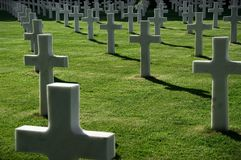 Американское мемориальное кладбище Стоковое Изображение