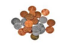 американское пенни монетки одного цента Стоковые Фото