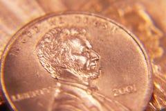 американское пенни центов Стоковая Фотография