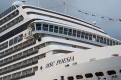 Американское роскошное туристическое судно MSC Poesia Стоковые Изображения