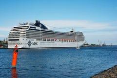 Американское роскошное туристическое судно MSC Poesia Стоковое фото RF