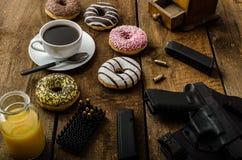 Американское утро полицейского Стоковые Фотографии RF