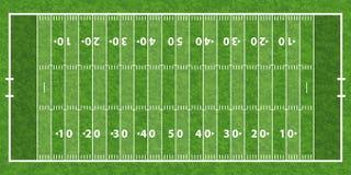 Американское футбольное поле Стоковое Изображение