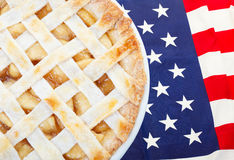 американское яблоко как расстегай Стоковое фото RF