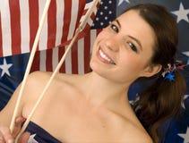 американское grrrl Стоковая Фотография RF