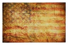 американское grunge флага предпосылки Стоковое Изображение