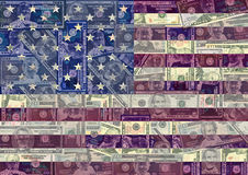 американское grunge флага предпосылки иллюстрация штока