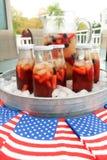 Американское infustion плодоовощ и чая лета праздника с ягодами Стоковые Фотографии RF