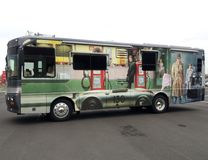 Американское motorhome художнически конструированное с фото фольги печати художника стоковое изображение rf