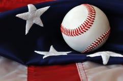 американское passtime бейсбола Стоковое Изображение