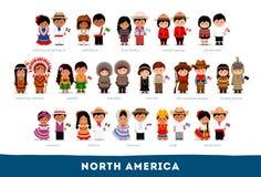 Американцы в национальных одеждах бесплатная иллюстрация