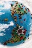 америка зацвела глобус Стоковая Фотография