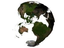 Америка на глобусе земли стоковое изображение rf