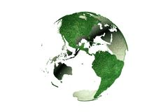 Америки на травянистом глобусе земли Стоковые Фото