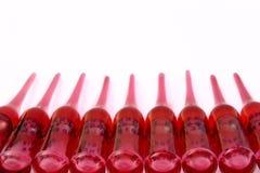 ампулы красные Стоковые Фотографии RF