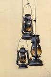 3 лампы керосина Стоковая Фотография RF