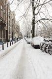 Амстердам в de зиме, Амстердаме в зиме стоковые фотографии rf