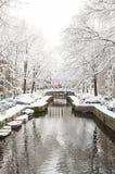 Амстердам в de зиме, Амстердаме в зиме стоковые фото