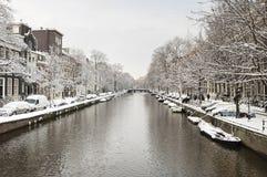 Амстердам в de зиме, Амстердаме в зиме стоковая фотография rf