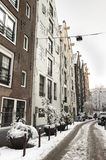 Амстердам в de зиме, Амстердаме в зиме стоковые изображения rf