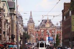 АМСТЕРДАМ, НИДЕРЛАНДЫ - 19-ОЕ АВГУСТА 2015: Взгляд на Амстердаме Стоковые Фотографии RF