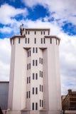 АМСТЕРДАМ, НИДЕРЛАНДЫ - 14-ОЕ АВГУСТА 2016: Известные промышленные здания конца-вверх города Амстердама Общий взгляд ландшафта Стоковые Изображения RF