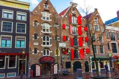 Амстердам, Нидерланды - 14-ое декабря 2017: Здания города Амстердама Стоковая Фотография RF