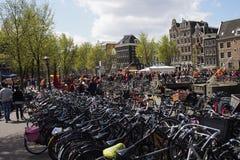 Амстердам город велосипеда Стоковые Фото