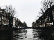 Амстердам, канал Стоковая Фотография RF