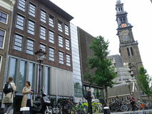Амстердам около дома Анны Франка Стоковое Изображение RF