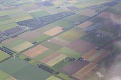 Амстердам от самолета Стоковое Изображение RF