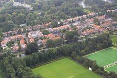 Амстердам от самолета Стоковая Фотография
