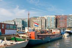 Амстердам река amsterdam amstel Стоковая Фотография RF