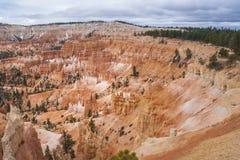 Амфитеатр в национальном парке каньона Bryce, Юте, США Стоковые Изображения