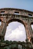 Амфитеатр в пулах, Istria, Хорватии Стоковые Фотографии RF