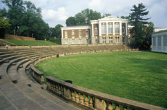 Амфитеатр в университете  Вирджинии, Charlottesville, VA стоковое изображение
