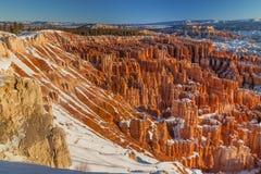 Амфитеатр каньона Bryce в зиме Стоковые Изображения RF