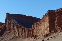 Амфитеатр, Ла луна Valle de, пустыня Atacama, Чили Стоковая Фотография